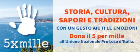 Dona il 5 per mille all'Unione Nazionale Pro Loco d'Italia.